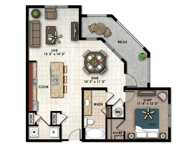 One Bedroom Apartments in Miramar